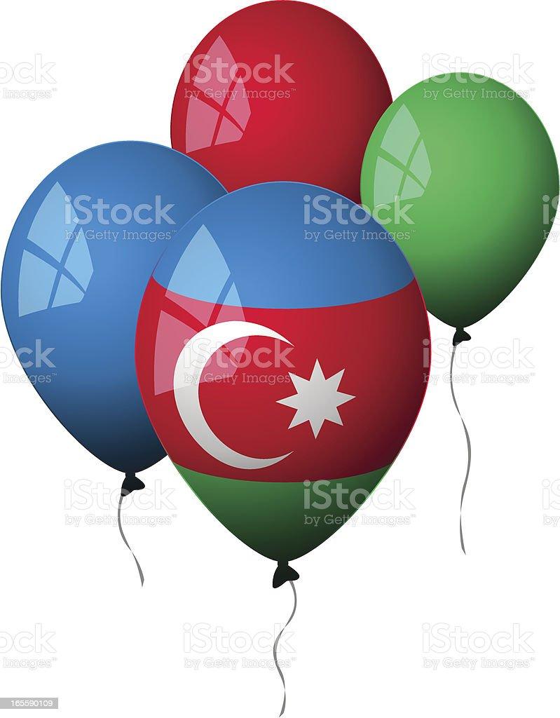 Azerbaijan - Balloons royalty-free stock vector art