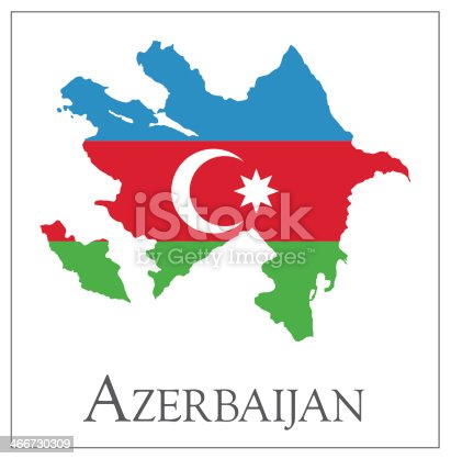Azerbaijan Flag Map Clipart Images High Res Premium Images