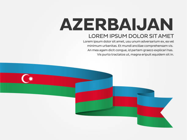 Azerbaijan flag on a white background azerbaijan, baku, country, flag, welcome, vector azerbaijan stock illustrations