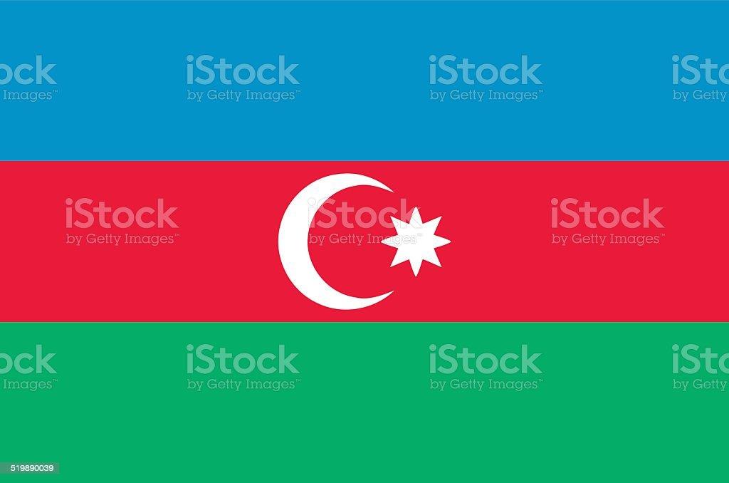Azerbaijan flag vector art illustration