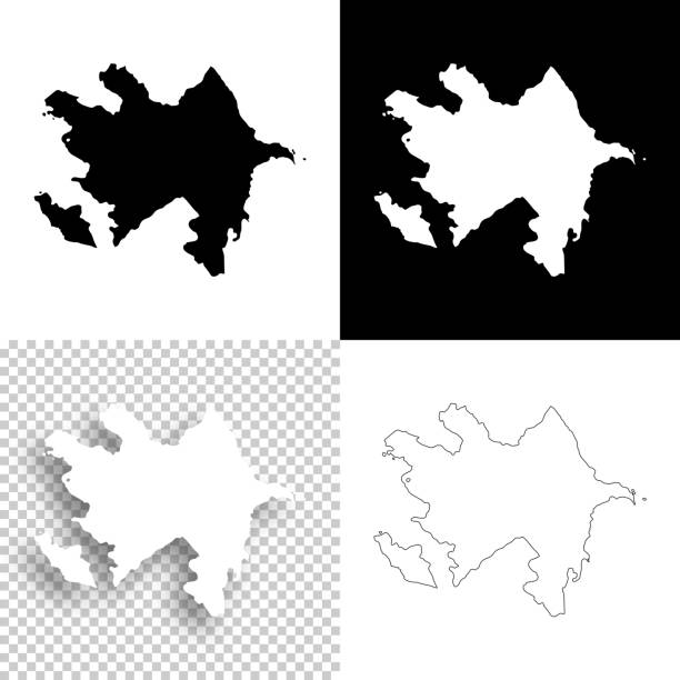 Azerbaijan maps for design - Blank, white and black backgrounds Map of Azerbaijan for your own design. With space for your text and your background. Four maps included in the bundle: - One black map on a white background. - One blank map on a black background. - One white map with shadow on a blank background (for easy change background or texture). - One blank map with only a thin black outline (in a line art style). The layers are named to facilitate your customization. Vector Illustration (EPS10, well layered and grouped). Easy to edit, manipulate, resize or colorize. Please do not hesitate to contact me if you have any questions, or need to customise the illustration. http://www.istockphoto.com/portfolio/bgblue azerbaijan stock illustrations