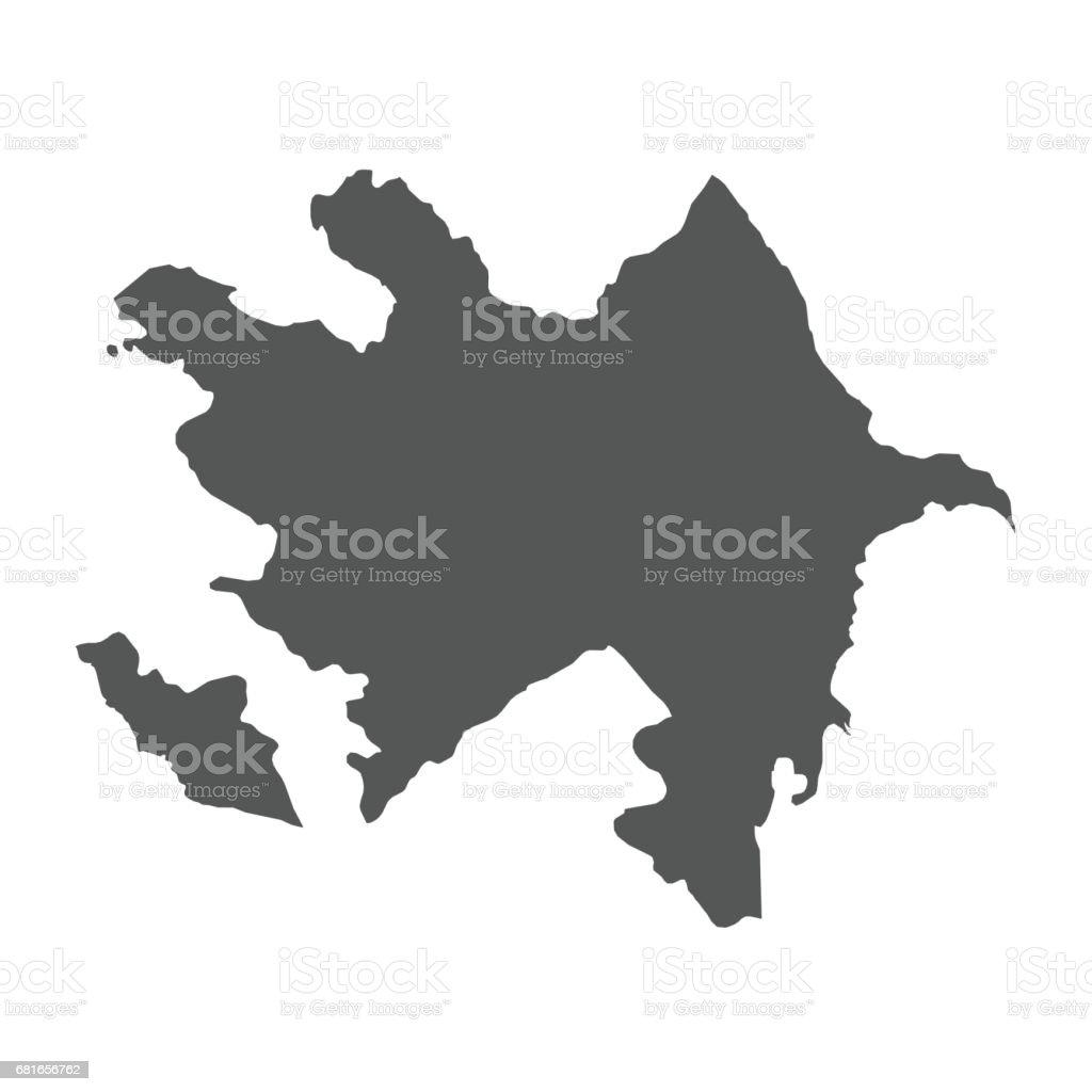 Azerbaijan vector map. vector art illustration