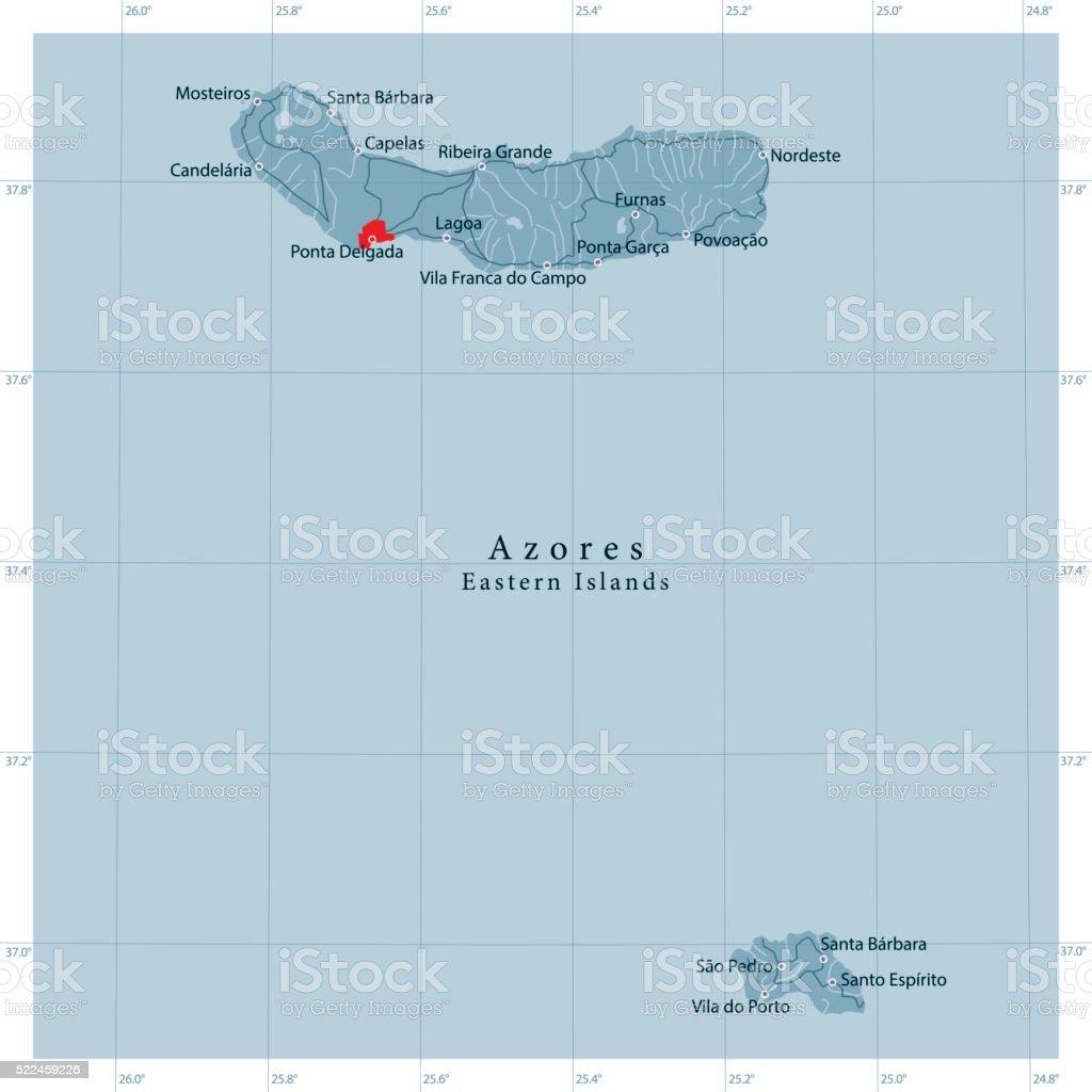 Ilustracion De Islas Azores Oriental Vector De De Mapa De Carretera Y Mas Vectores Libres De Derechos De Alemania Istock