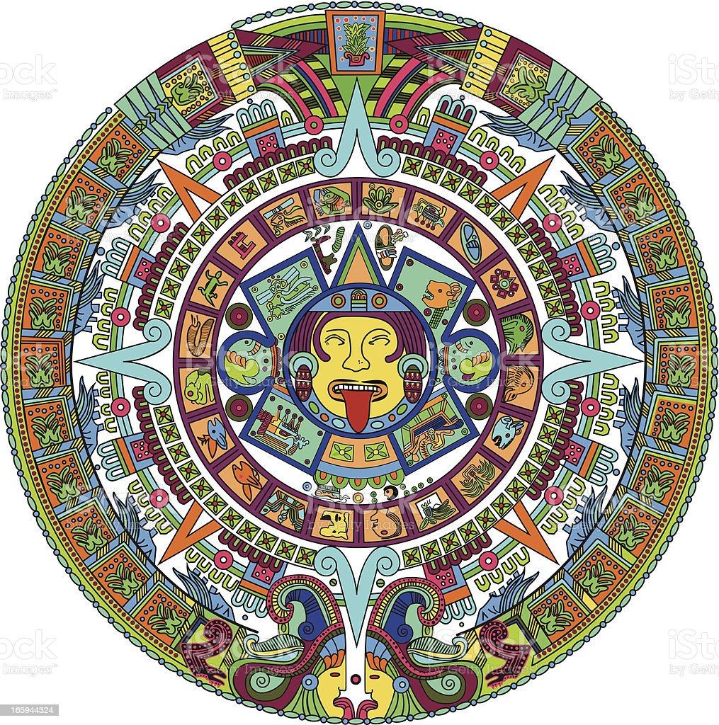 Calendario Azteca Vectores.Ilustracion De Azteca Calendario Ilustracion Y Mas Vectores