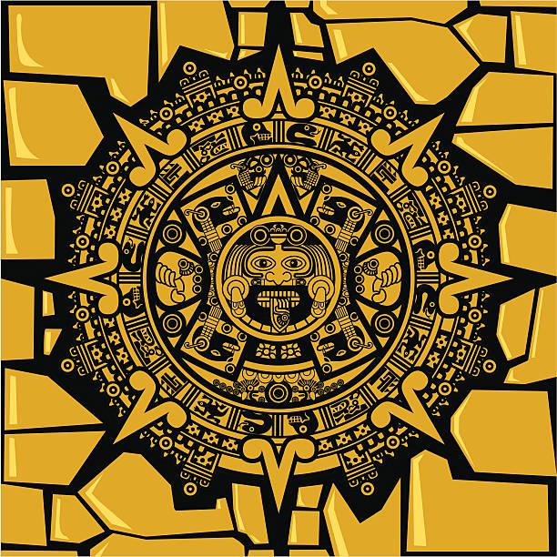 Aztec Calendar Illustration : Royalty free mayan calendar clip art vector images