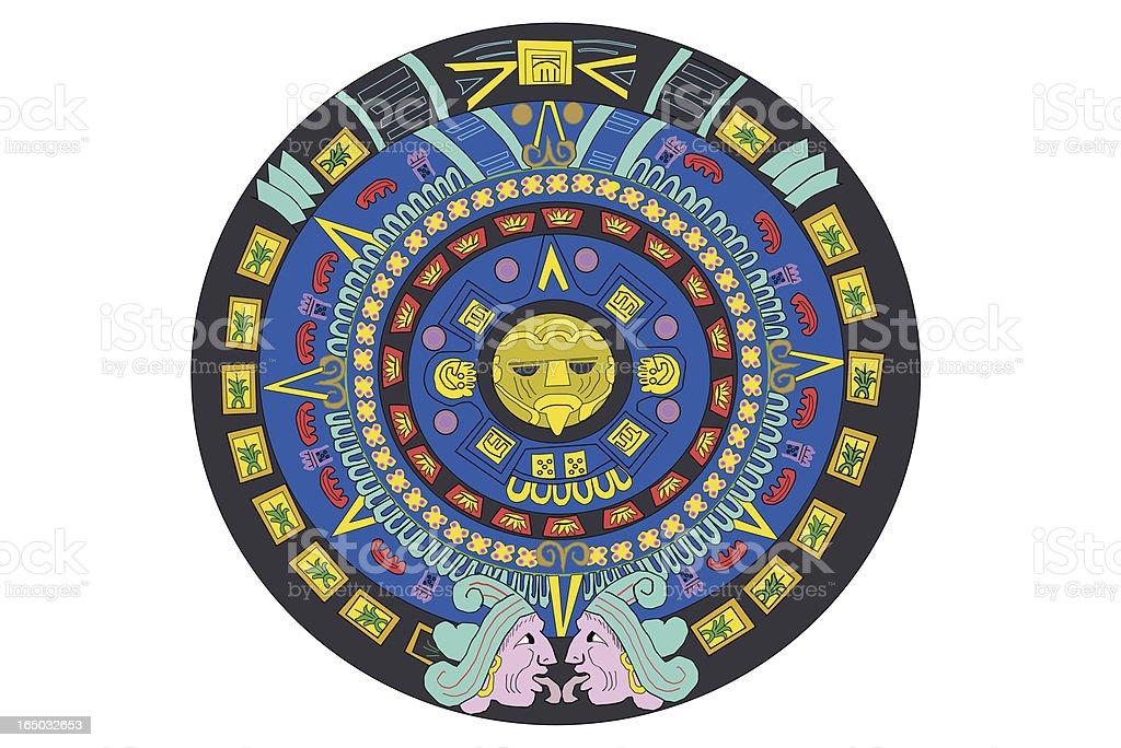 Calendario Azteca Vectores.Ilustracion De Calendario Aztec Y Mas Vectores Libres De