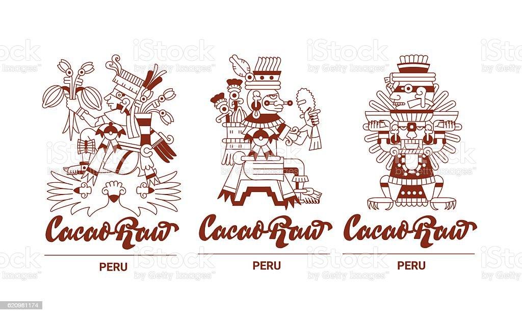 aztec chocolate package design ilustração de aztec chocolate package design e mais banco de imagens de arte linear royalty-free