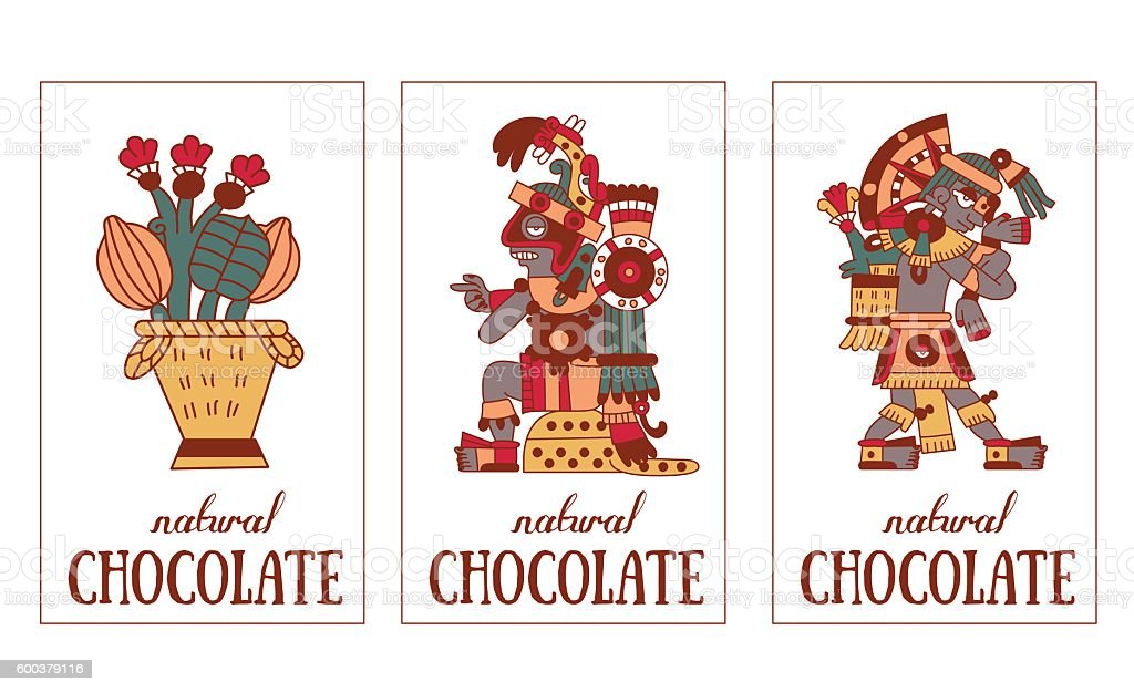 Aztec Chocolate Pattern Stock Illustration - Download Image