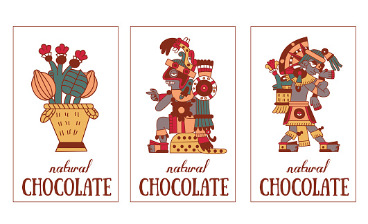 Aztec Chocolate Pattern Stock Illustration - Download Image Now - iStock