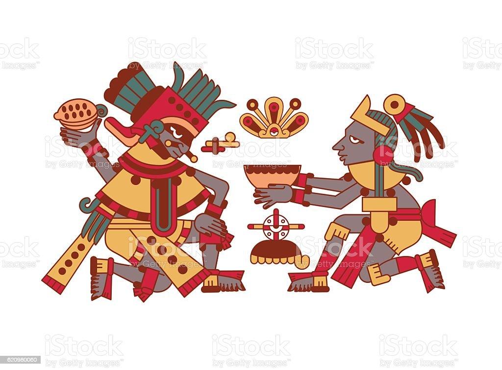 doodle padrão asteca ilustração de doodle padrão asteca e mais banco de imagens de arte linear royalty-free