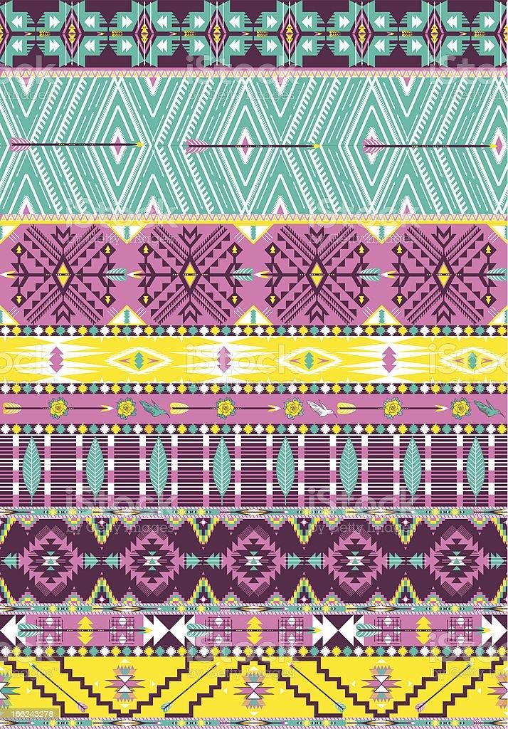 Aztec geometric seamless pattern royalty-free stock vector art