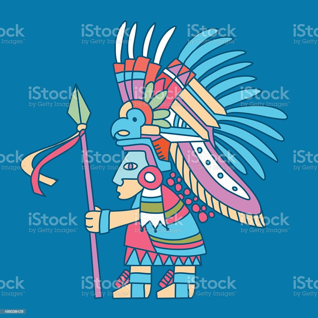 Aztec Indian Warrior Stock Illustration Download Image Now Istock