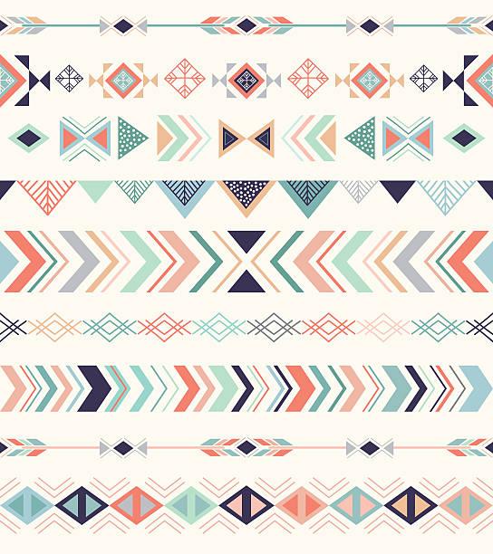 stockillustraties, clipart, cartoons en iconen met aztec pattern. - boho