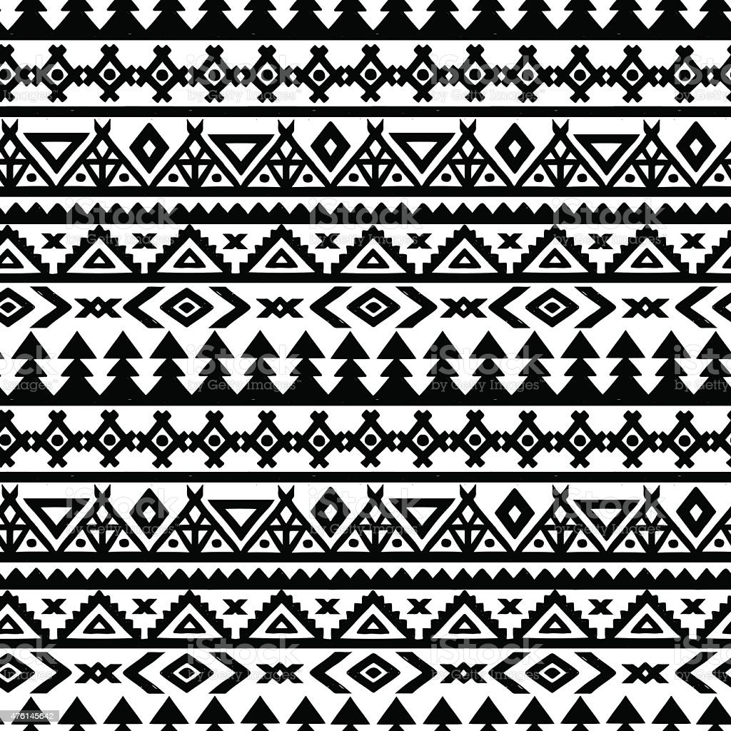 Aztec seamless pattern vector art illustration