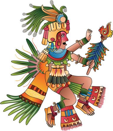 Aztec shaman vector illustration