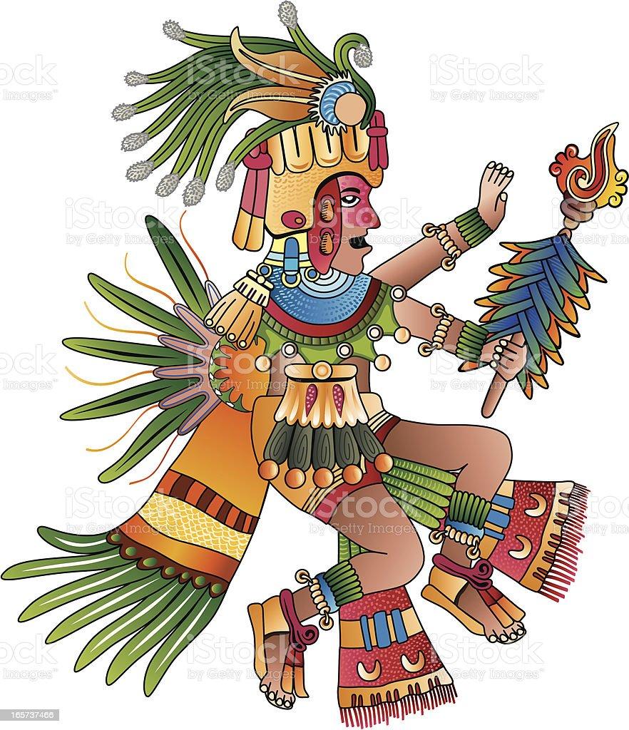 Aztec shaman vector illustration vector art illustration