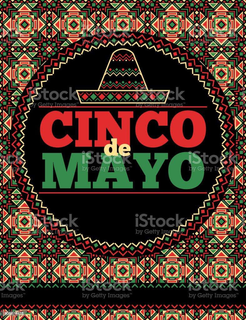 aztec style cinco de mayo flyer template stock vector art more