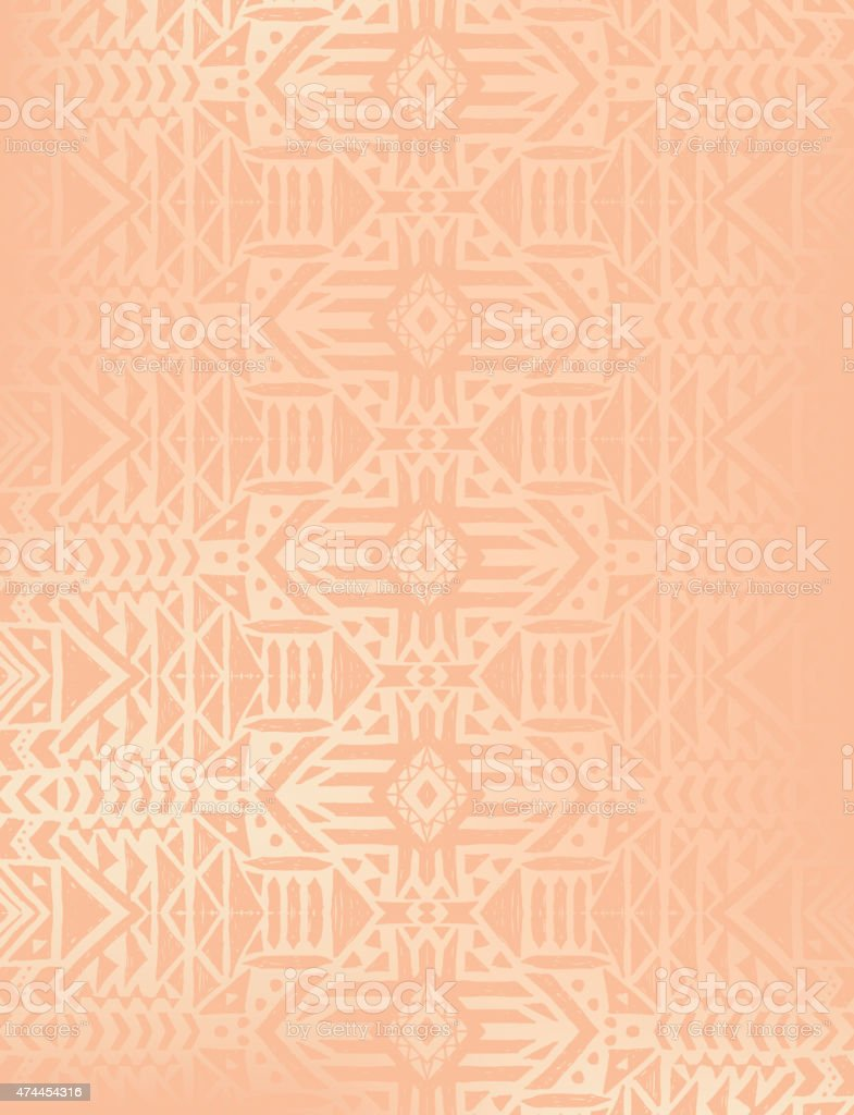 Aztec tribal mexican seamless pattern vector art illustration