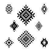 Aztec/ Tribal shapes, symbols collection vector set art