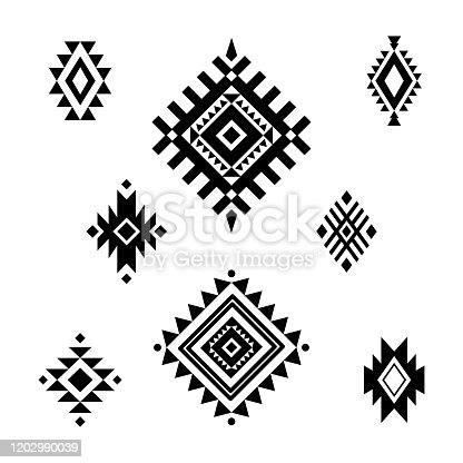 Aztec/ Tribal shapes, symbols collection vector set art
