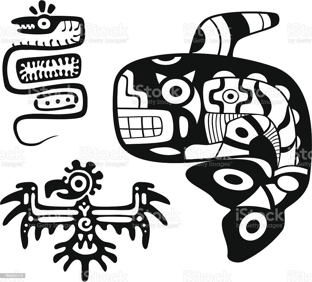 Aztecs arte - ilustración de arte vectorial