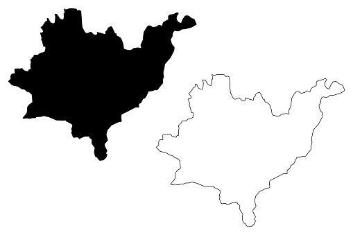 Azuay Province (Republic of Ecuador, Provinces of Ecuador) map vector illustration, scribble sketch Azuay map