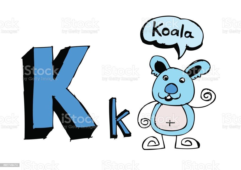 B 漢英 d f g h 我 j k l m n o p q r s t u v w x y z 卡通文本字體手繪圖向量信件 - 免版稅企鵝圖庫向量圖形