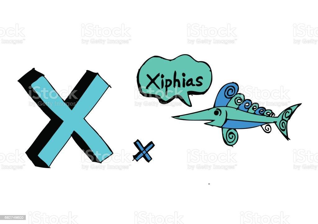 B 漢英 d f g h 我 j k l m n o p q r s t u v w x y z 卡通文本字體手繪圖向量信件 - 免版稅劍魚圖庫向量圖形