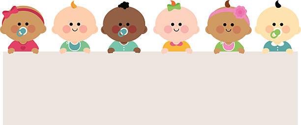 Babys, die horizontal leer banner – Vektorgrafik