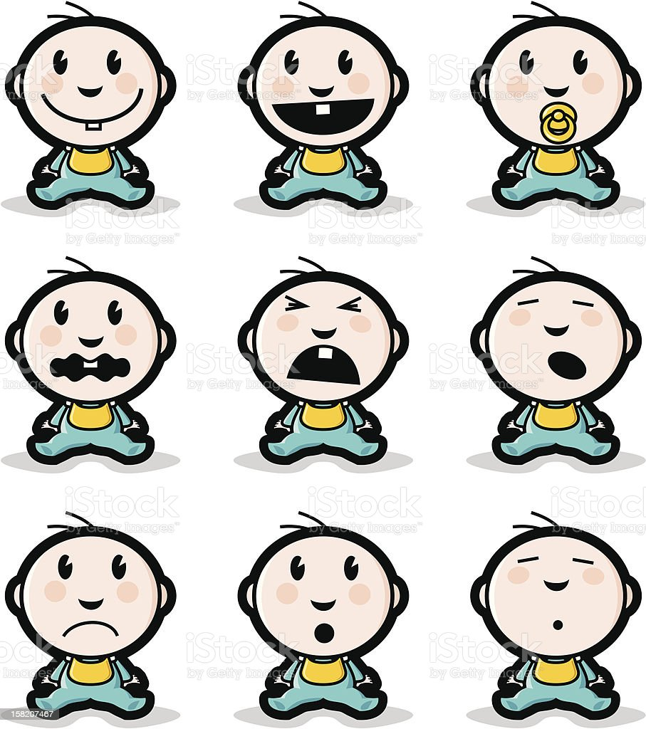 Babies mood royalty-free babies mood stock vector art & more images of anger