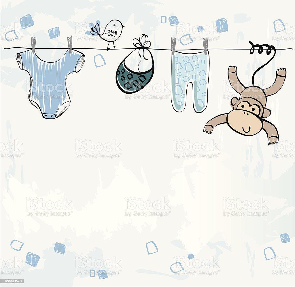 babies scrapbook vector art illustration