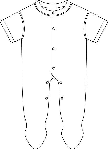babys pyjama-vorlage - bodysuit stock-grafiken, -clipart, -cartoons und -symbole
