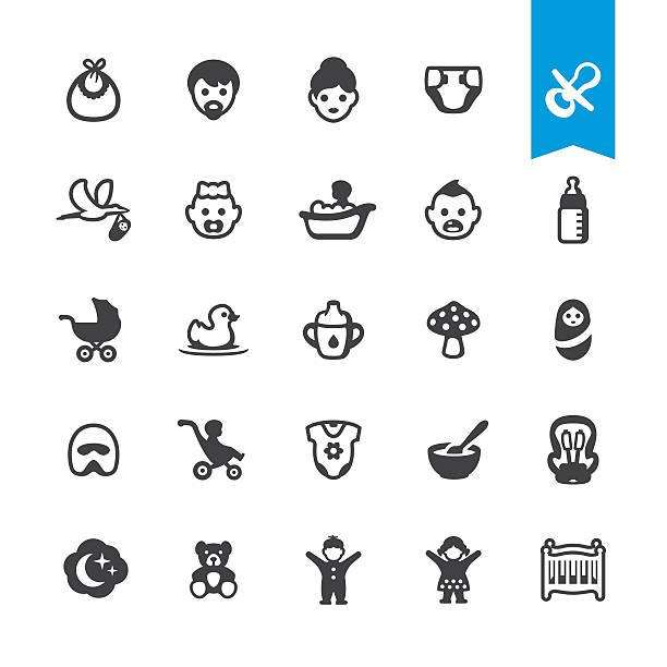赤ちゃんのベクトルのアイコン - ベビーフード点のイラスト素材/クリップアート素材/マンガ素材/アイコン素材