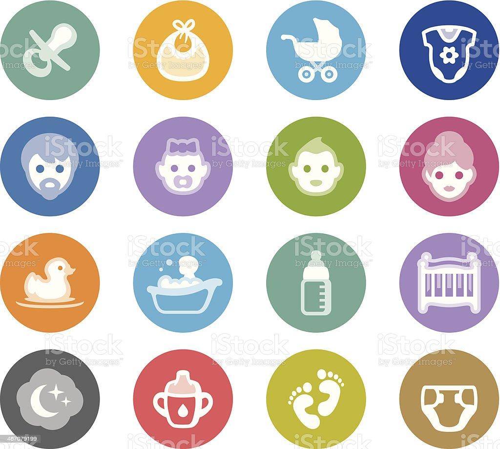 Babies / Wheelico icons vector art illustration