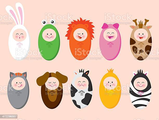 Babies with animal suits vector id472296557?b=1&k=6&m=472296557&s=612x612&h=hudn92wrb82zrhtjglefthlrjw6d55m2itqkbk6gq0e=