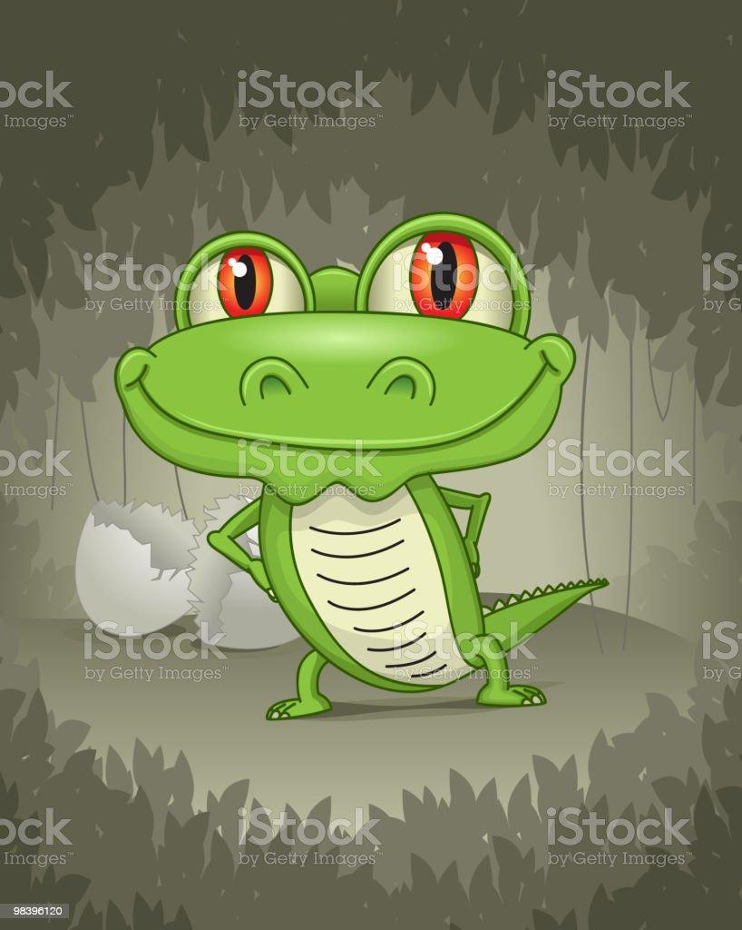 Baby alligator royalty-free baby alligator stock vector art & more images of alligator