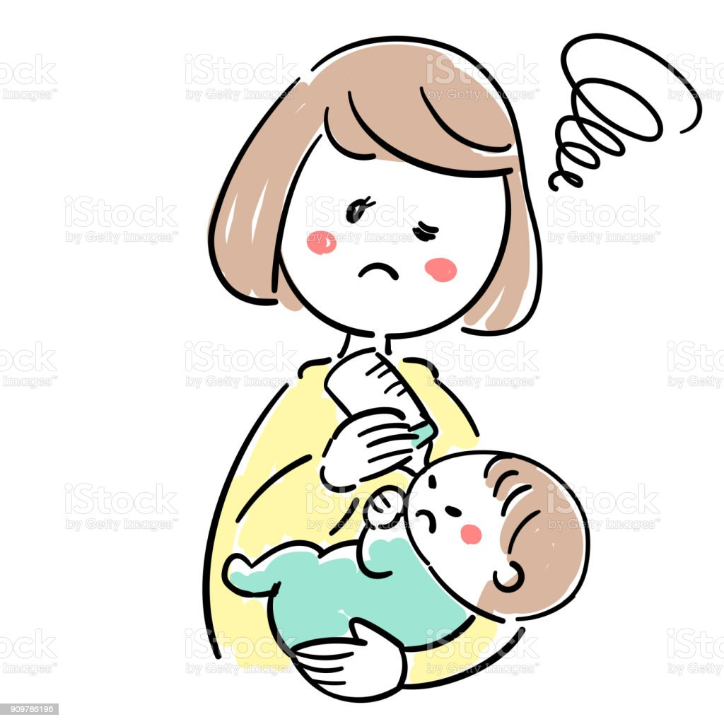 Baby and child care_Do not Drinking milk vector art illustration