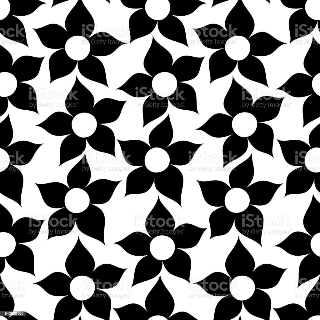 Baby And Kids Floral Cute Background Beautiful Seamless Pattern With