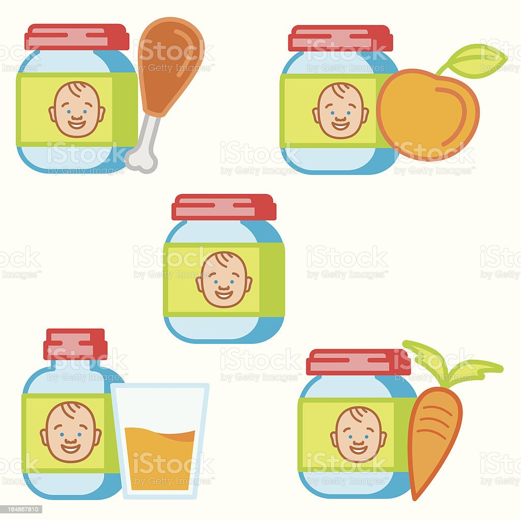 Baby and Kids Icon Series royalty-free stock vector art