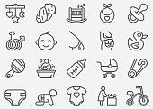 Baby and Newborn Line Icons