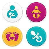 Baby, children, infant, mother and childhood symbols.