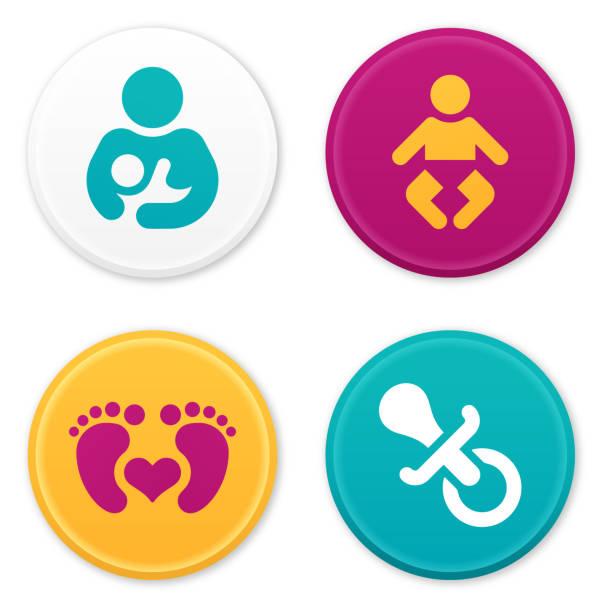 ilustraciones, imágenes clip art, dibujos animados e iconos de stock de bebé y los padres los iconos y símbolos - madre