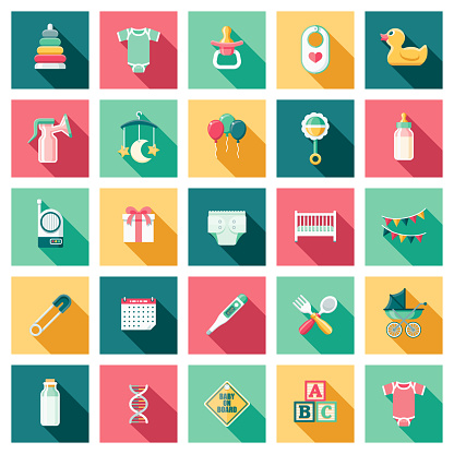 Baby and Parenting Icon Set