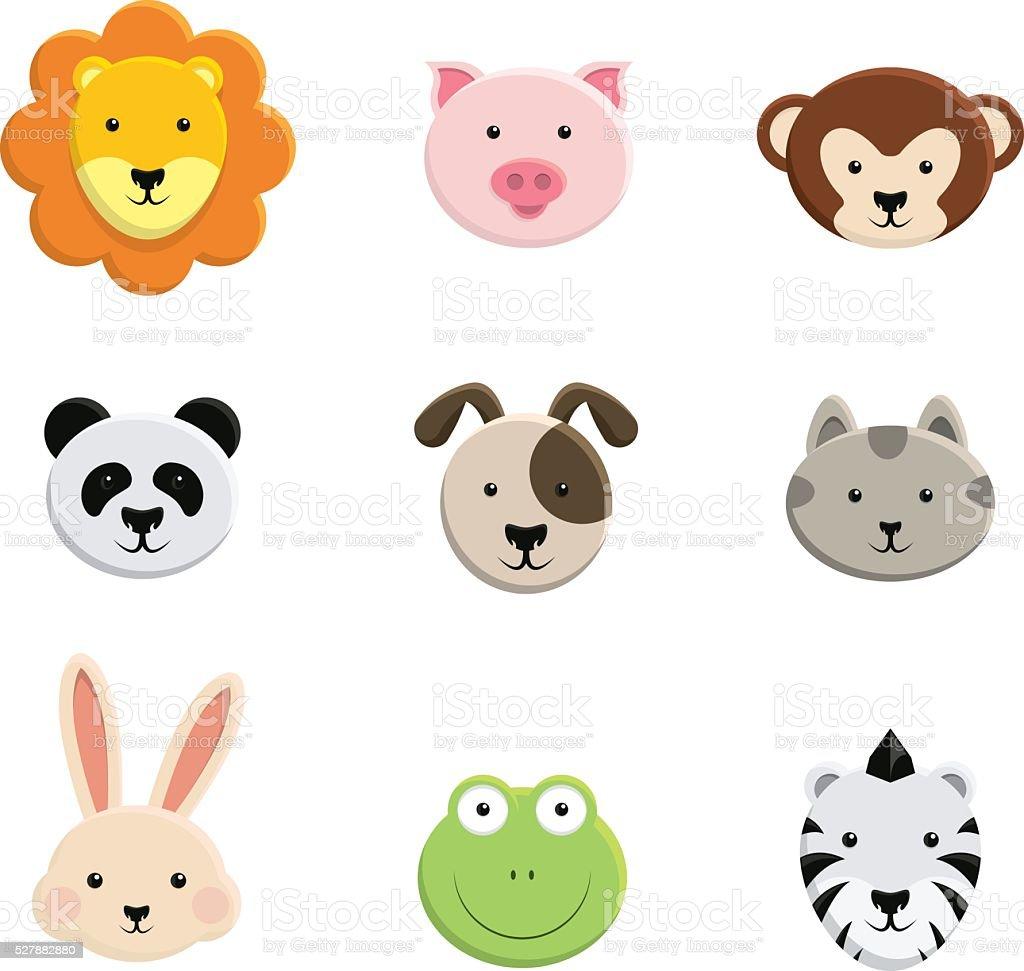 赤ちゃん動物の顔 - アイコンのベクターアート素材や画像を多数ご用意