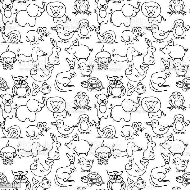 Baby animals icons seamless pattern monochrome vector id527034366?b=1&k=6&m=527034366&s=612x612&h=psdutsf5kisa5zhwn pmvfwmvvoatcuheh9smujmhx4=
