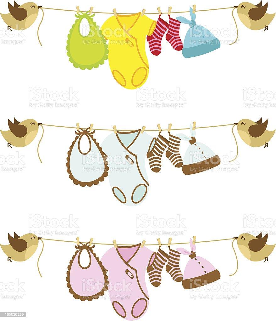 Baby banner vector art illustration