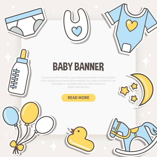 ベビーのバナー - 出産点のイラスト素材/クリップアート素材/マンガ素材/アイコン素材