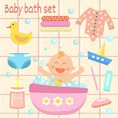 Baby bath set.