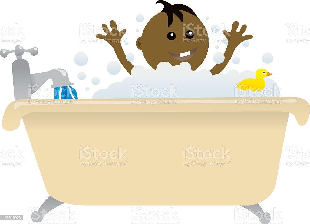 Baby bath time - Royaltyfri Bada vektorgrafik