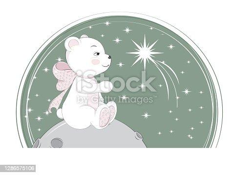 baby bear on moon.